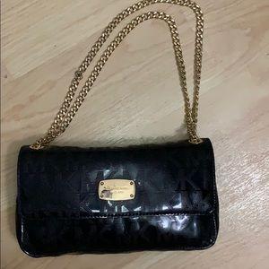 Small Michael Kors black gold chain bag